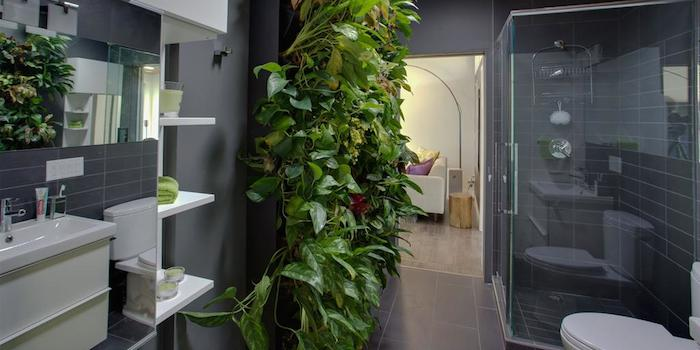 living wall bathroom